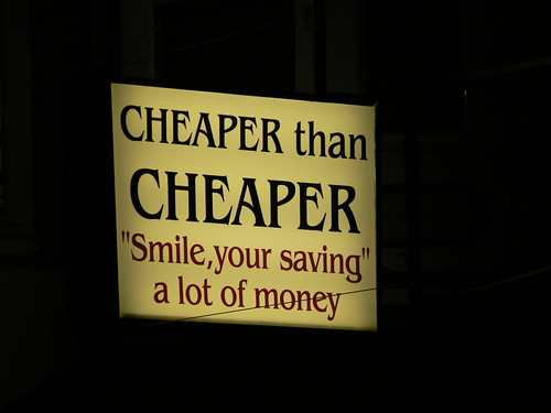 Cheap sign