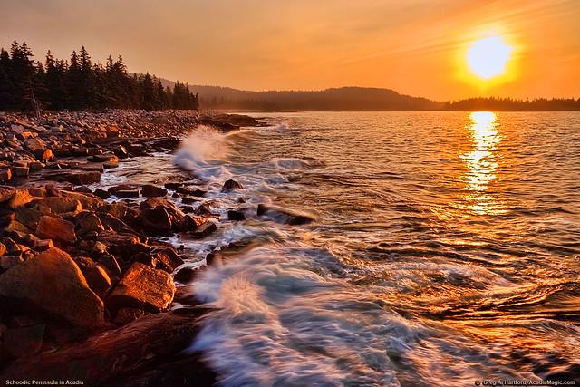 Acadia National Park Sunrise, Maine USA