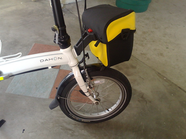 Dahon Curve With Klickfix Mount And Ortlieb Ultimate 5