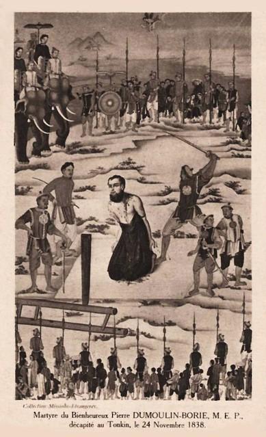 Bienheureux Pierre Dumoulin décapité au Tonkin le 24 Novembre 1838