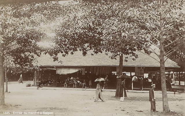 Saigon 1895 - Chợ Cũ trên đường Charner
