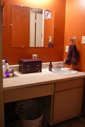 Burnt orange bathroom | Flickr - Photo Sharing!