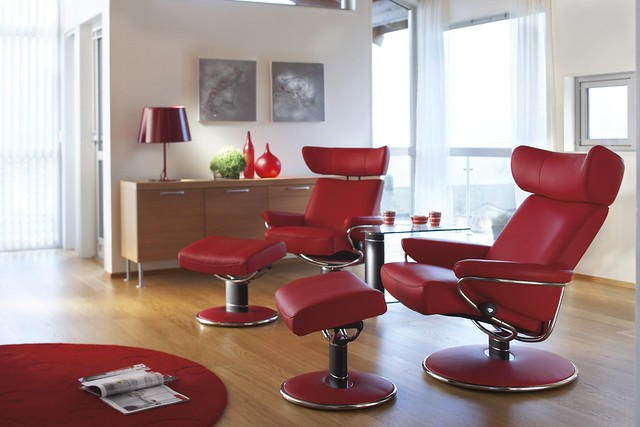 hpm s08 ekornes 4 ekornes 39 stressless jazz recliners in paloma chili red leather flickr. Black Bedroom Furniture Sets. Home Design Ideas