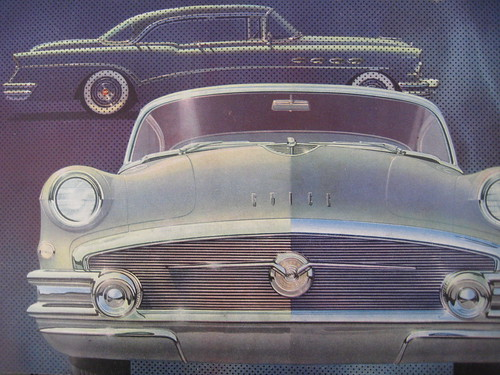 Cover illustration on the 1956 Buick brochure