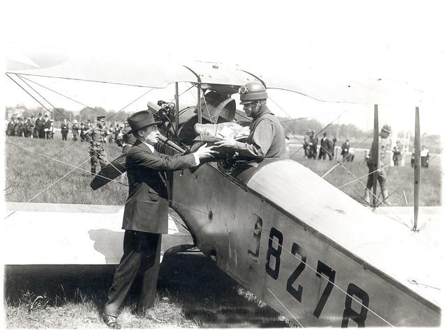 New York City Postmaster Thomas G. Patten and airmail pilot Lt. Torrey Webb