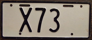 NEW ZEALAND 1986-95 Motorcycle dealer plate LOW number