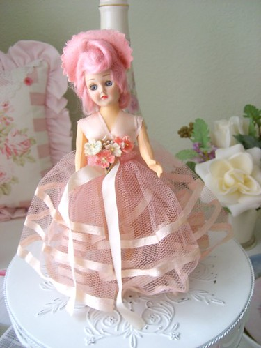 Vintage Pink Doll by sweetnshabbyroses