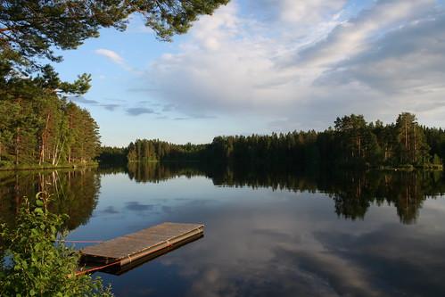summer lake water reflections finland landscape jämsänkoski haavisto jamsankoski
