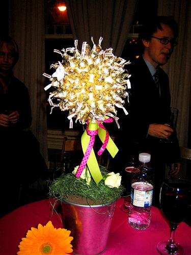flower topiary wedding