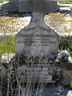 Matthews Headstone at Breadalbane Cemetery, NSW