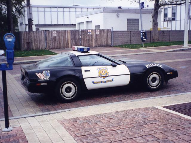 Corvette Police Car: Cleveland OH: Corvette Police Car