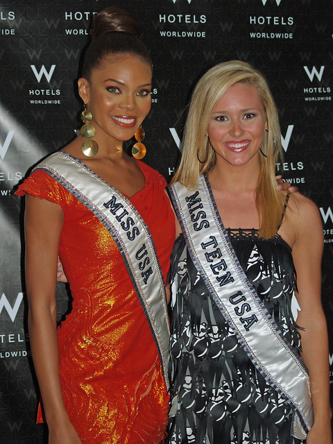 Crystle Stewart and Stevi Perry  at Mercedes-Benz Fashion Week