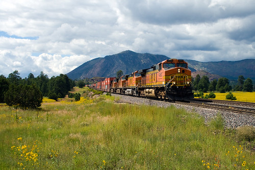 railroad arizona southwest west flower clouds train az flagstaff valley sanfranciscopeaks bnsf cotcmostfavorited eldenmountain
