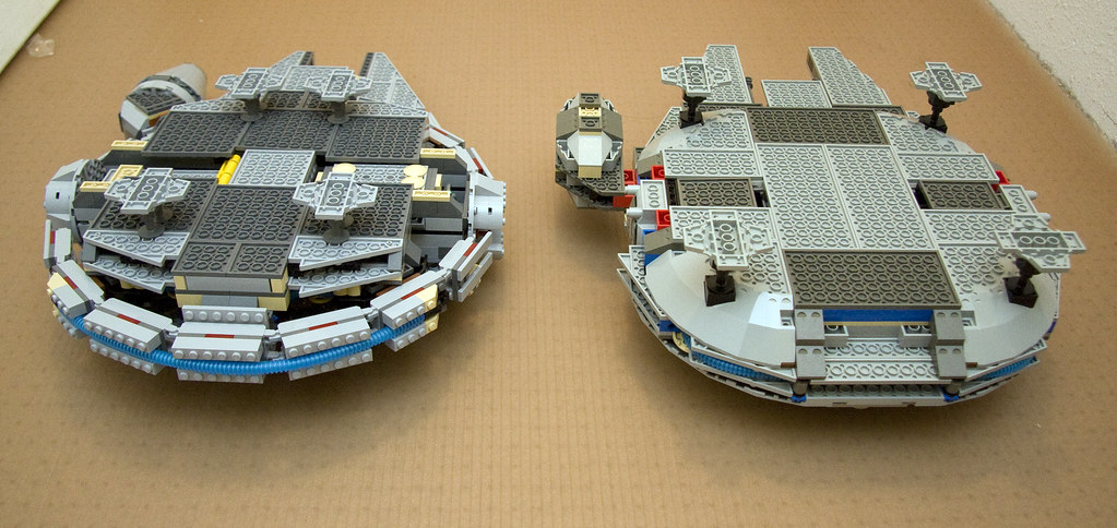 Comparison Between 7190 And 4504 Lego Millennium Falcon A Photo On