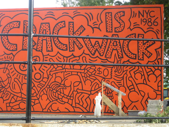 Keith haring 39 s crack is wack flickr photo sharing for Crack is wack mural