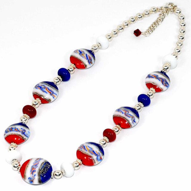 red white and blue necklace flickr photo sharing