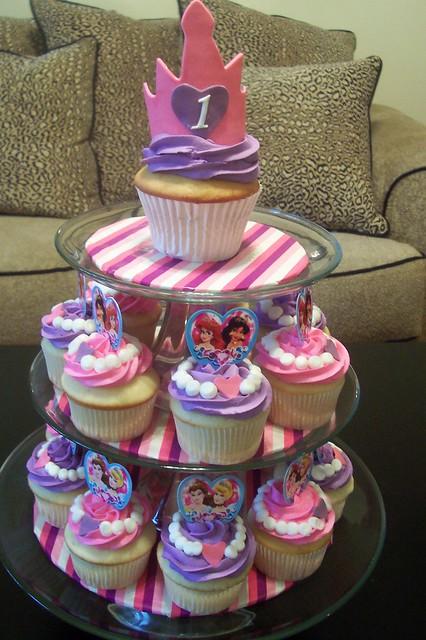 princess cupcake tower