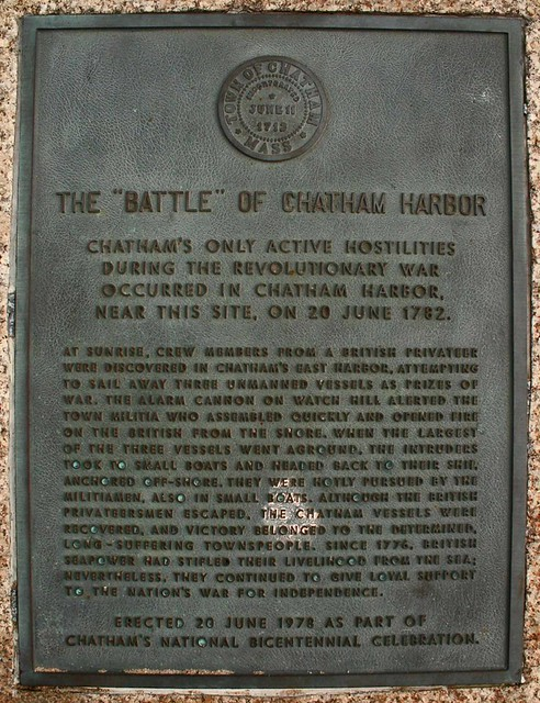Battle Of Chatham memorial, 1782  -  Christopher D. LeClaire photo, 2008