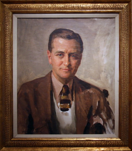 F. Scott Fitzgerald, 1935 by David Silvette, Oil on canvas