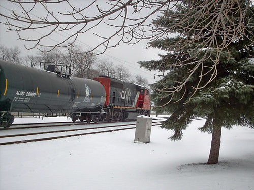 Eastbound Canadian National transfer train. North Riverside Illinois. December 2007. by Eddie from Chicago