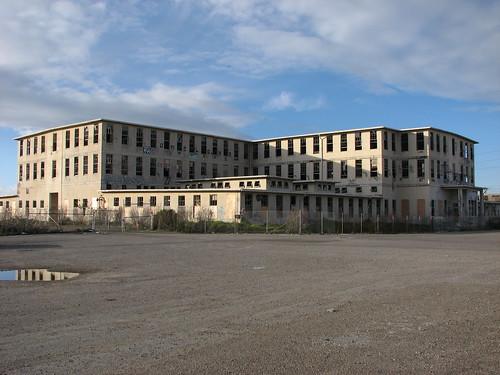 Abandoned Hospital wide shot