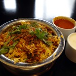 Jhinga biryani at Hyderabadi Spice, East Ham, London E12