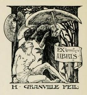 Bookplate of H Granville Feil by the owner