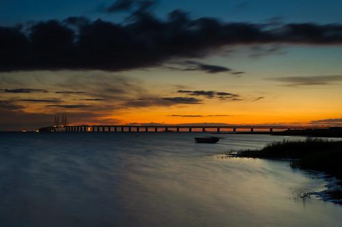 ocean longexposure bridge sunset sky sun nature water clouds landscape nikon long exposure shore d90 mygearandme mygearandmepremium mygearandmebronze