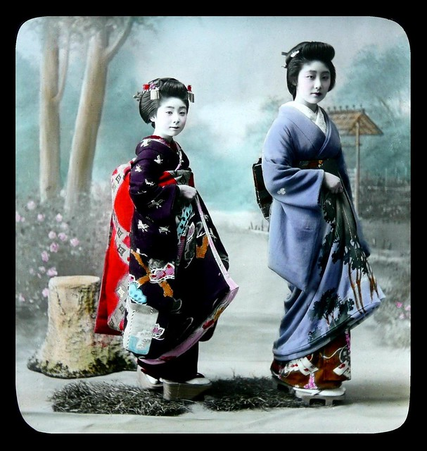 MAIKO AND GEISHA -- A Bright day in the Studio
