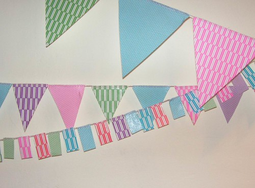 Paper Decorations 6 Photos | flag banner from origami paper | 932