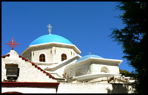 The blue domes of Samos