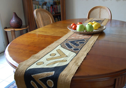 Chemin de table bogolan marron flickr photo sharing - Chemin de table etoile ...