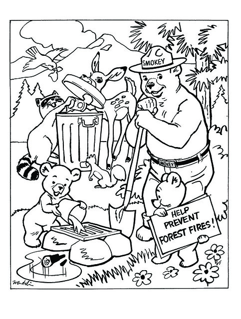 smokey the bear coloring pages - photo#4