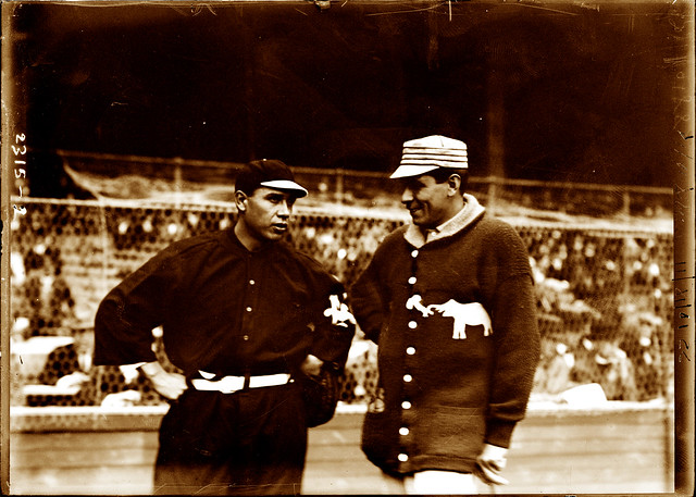 Chief Meyers and Chief Bender, 1911 World Series, New York Giants vs. Philadelphia Athletics