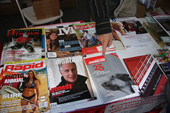 Magazines Canada table in BCAMP tent