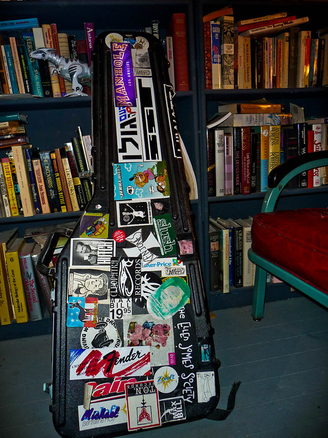 Photo:Guitar Case with Stickers By ex_magician