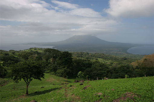 View towards Concepción volcano