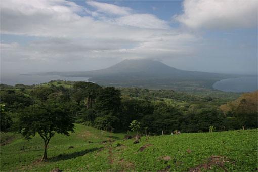 View towards Concepción volcano