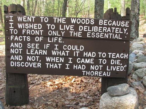 Walden Pond Concord MA Thoreau quote