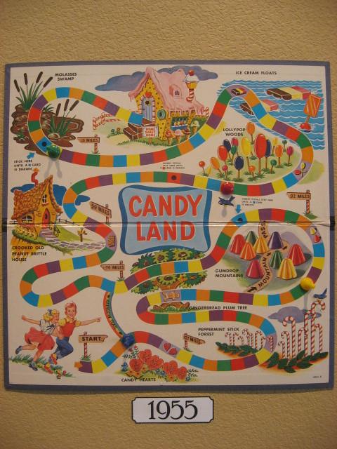 candy land board -- 1955