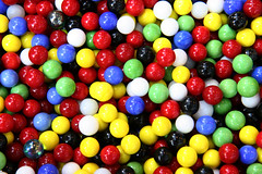 nonpareils(0.0), glass(0.0), jelly bean(0.0), toy(0.0), candy(1.0), confectionery(1.0), ball pit(1.0), dessert(1.0), ball(1.0),