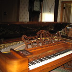 A Chickering square grand piano Inside Robert Newell House museum at Champoeg State Park