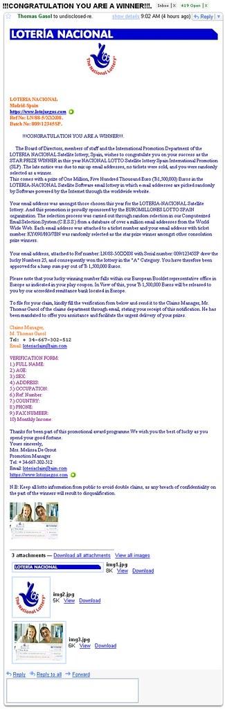 National Lottery Online Winners