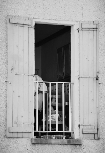 white black france window girl souvignargues