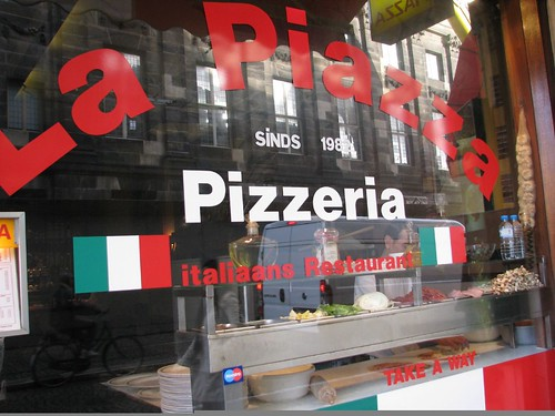 The pizza place by Dam Square, it was AMAZING