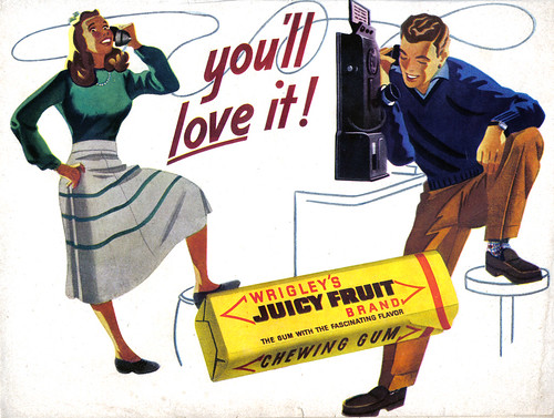 "Vintage Ad #1,096: Juicy Fruit - You""ll Love It!"