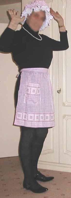 Sissy Caning-straf Lilac taljeforklæde Et foto på flickriver-1636