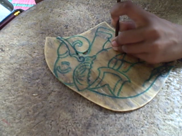Video skin carving by the children at little