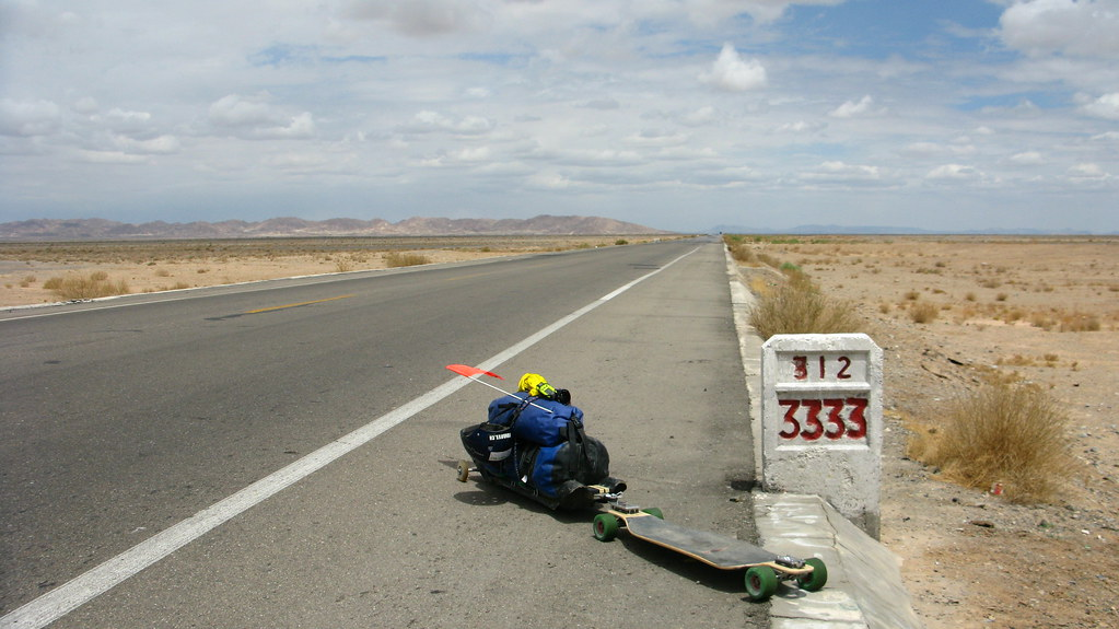 MM3333 on National Highway 312 east of Xinxinxia, Gansu Province, China