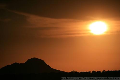 sunset españa sol atardecer spain badajoz nubes tormenta puestadesol crepusculo puesta 2008 ocaso extremadura alange jesuloca